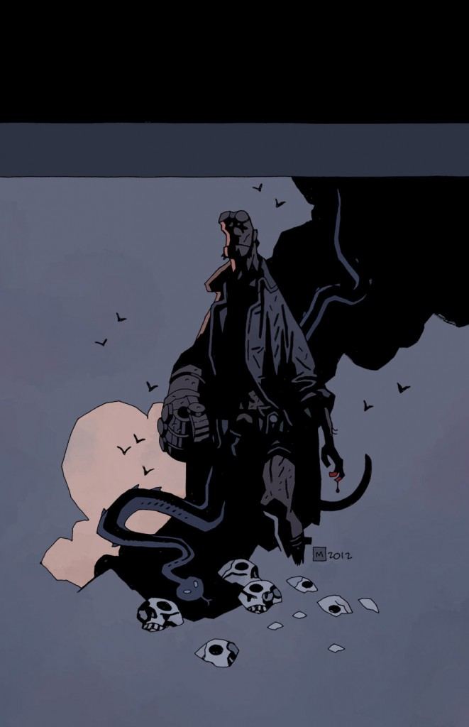 Hellboy In Hell #3 Cover (Dark Horse) - Artist: Mike Mignola