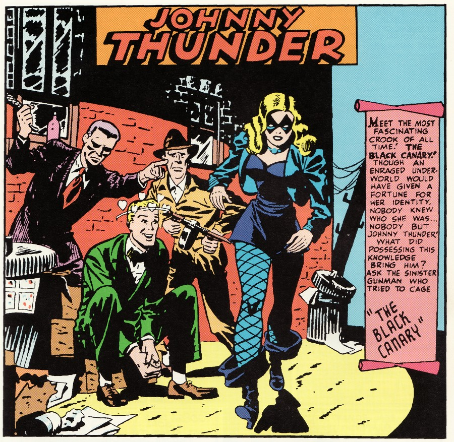 Flash Comics #86 - Black Canary and Johnny Thunder (Carmine Infantino)