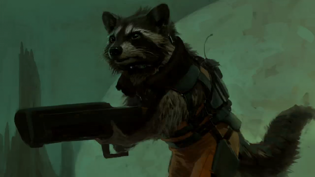 Guardians of the Galaxy concept art - Rocket Raccoon