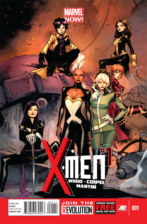 X-Men #1 (Marvel Now) Cover - Brian Wood and Olivier Coipel