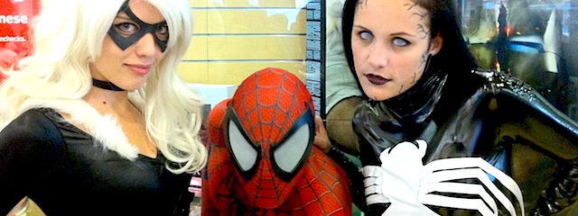 Free Comic Book Day 2013 - Cosplay. Black Cat, Spider-man and Female Venom