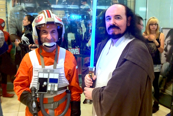 Free Comic Book Day - Cosplay - Jedi and X-Wing pilot at Kinokuniya, Sydney, 2013