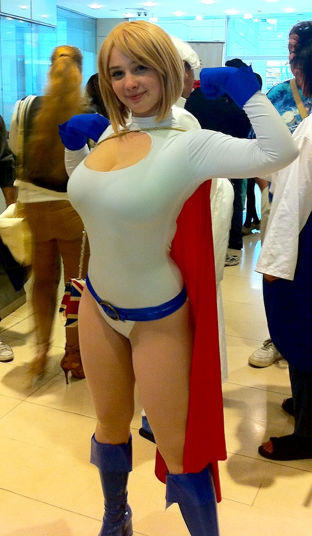 Free Comic Book Day - Cosplay - Ardella Cosplay as Power Girl at Kinokuniya, Sydney, 2013