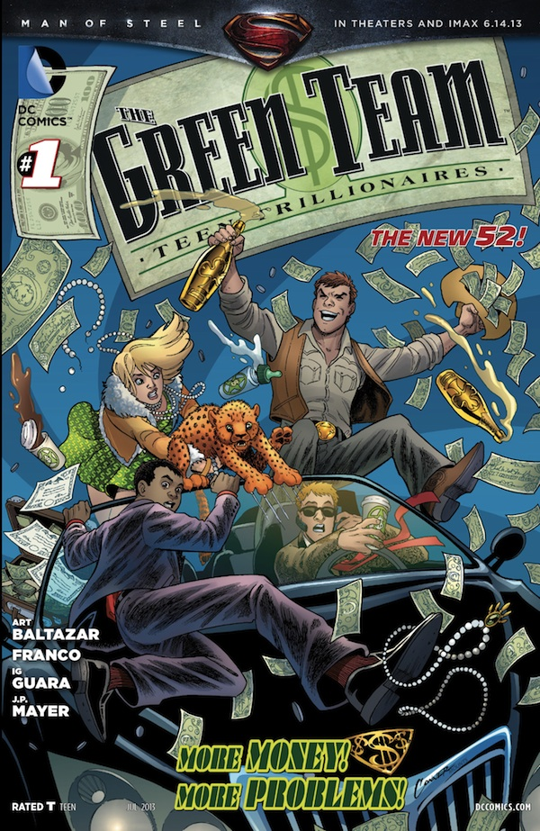 THE GREEN TEAM: TEEN TRILLIONAIRES #1 cover