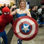 Supanova Sydney 2013 - Cosplay - Female Captain America and Spider-man