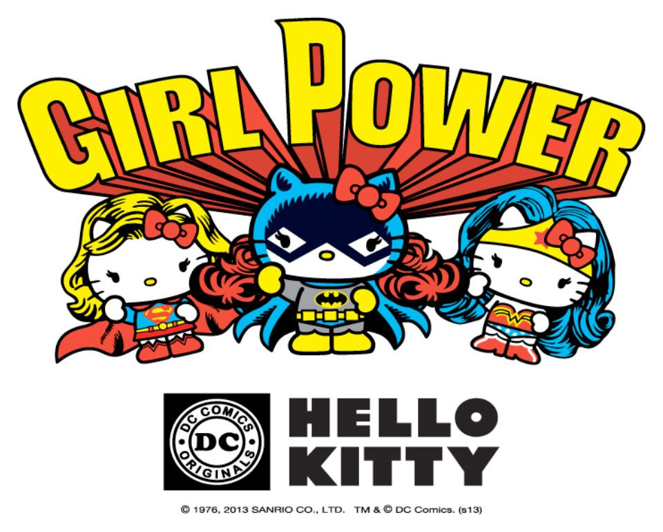 Hello Kitty Girl Power Lg Hello Kitty Teams up with DC Comics