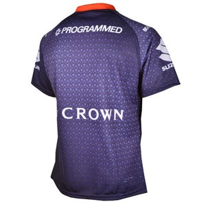 Man of Steel - Melbourne Storm Jersey (Back) - No Ordinary Match