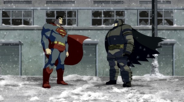 The Dark Knight Returns - Animated - Superman vs Batman Face-off