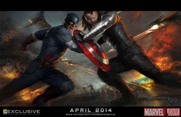 Captain America: The Winter Soldier concept art poster (SDCC 2013)