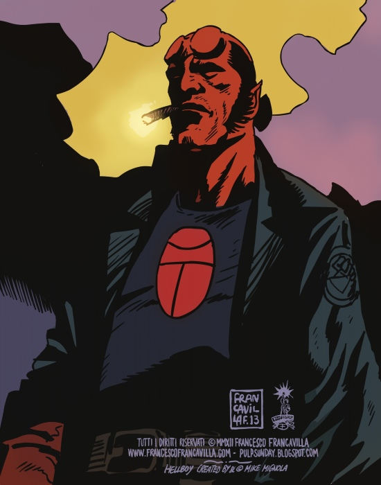 Hellboy/Black Beetle - Francesco Francavilla