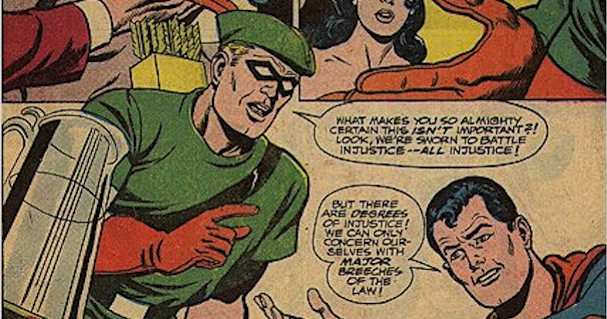 Justice League of America #66 - Green Arrow angry