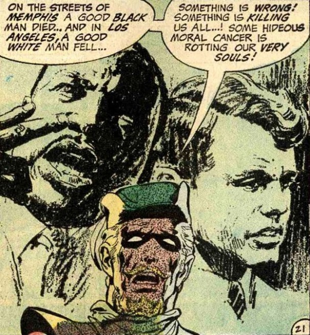 Green Arrow - Martin Luther King Jr and Kennedy (Neal Adams)