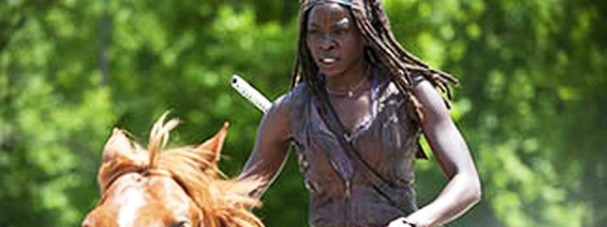 The Walking Dead - Season 4 - Michonne on a horse
