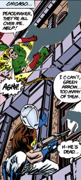 Golden Age Green Arrow dies during the 'Crisis on Infinite Earths' (1986)