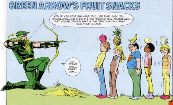Green Arrow Fruit Snacks - DC Super Heroes Super Healthy Cookbook (1981)