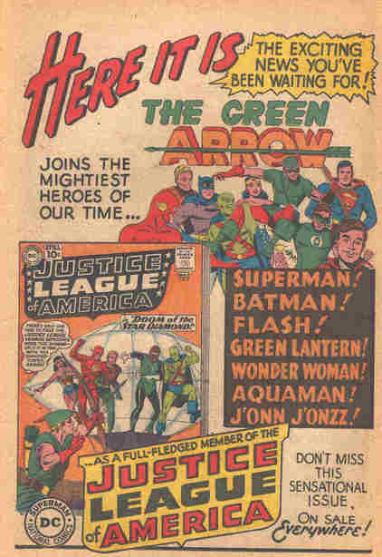 Justice League of America #4 House Ad (1961).