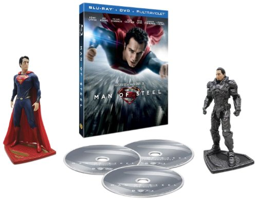 Man of Steel Blu-ray - with figures