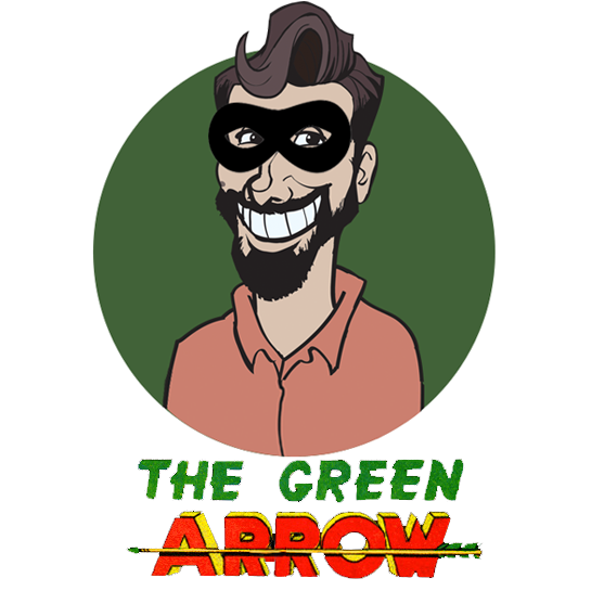 Richard Gray in Disguise - Green Arrow Logo 1940s