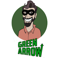 Richard Gray in Disguise - Green Arrow Logo 1970s