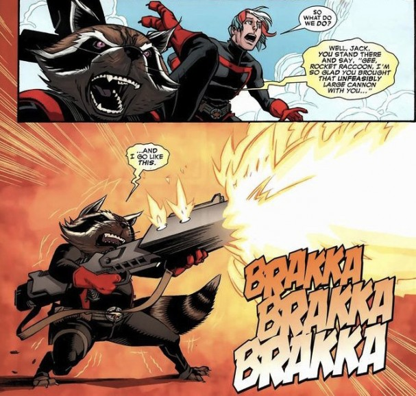 Rocket Raccoon - An Unfeasibly Large Cannon