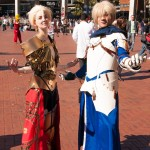 SMASH! Sydney Manga and Anime Show - Cosplay - Saber (Simon Xingers) and Gilgamesh (Ette Elle) from Fate Prototype