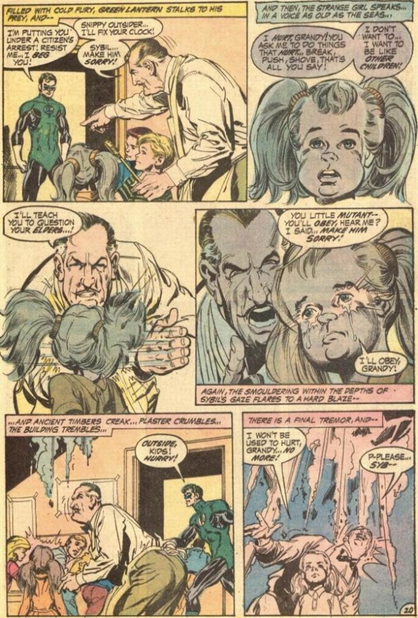 Green Lanter/Green Arrow - Nixon is a little girl