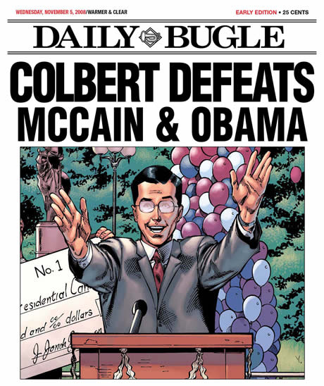 Daily Bugle - Colbert Defeats McCain and Obama