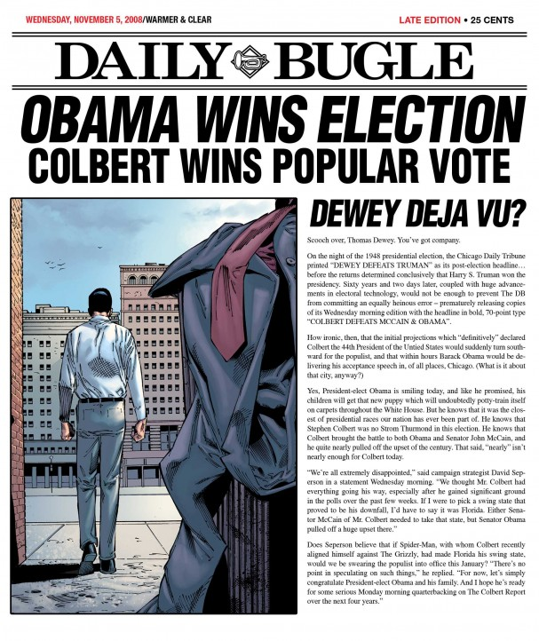 Daily Bugle - Obama Wins Election