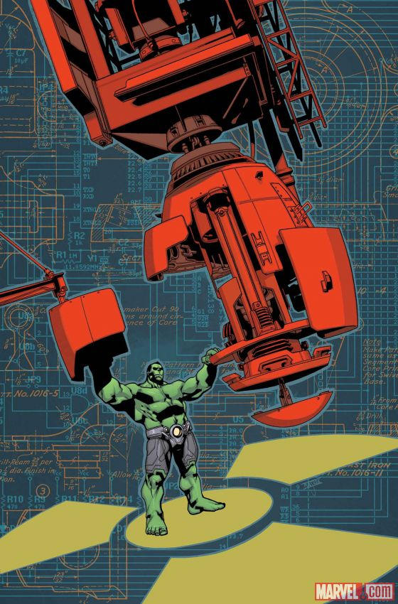 Indestructible Hulk #17.INH cover by Mahmud Asrar