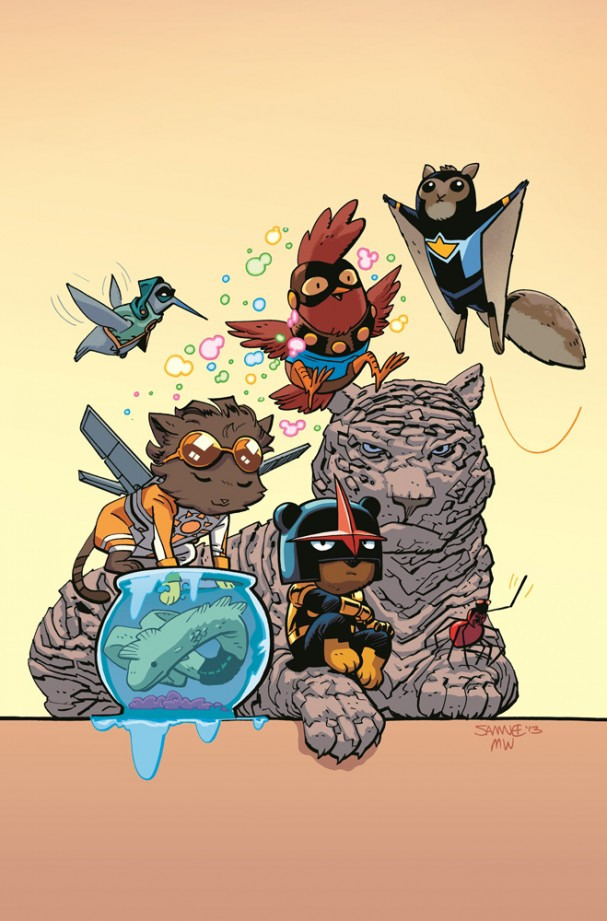 New Warriors (2014) #1 - Chris Samnee Animal Variant