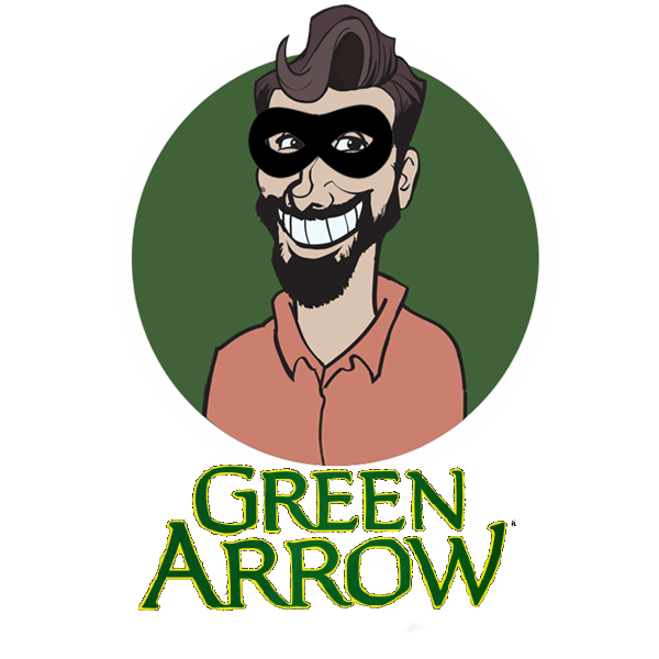 Richard Gray in Disguise - Green Arrow Logo 1987-1994