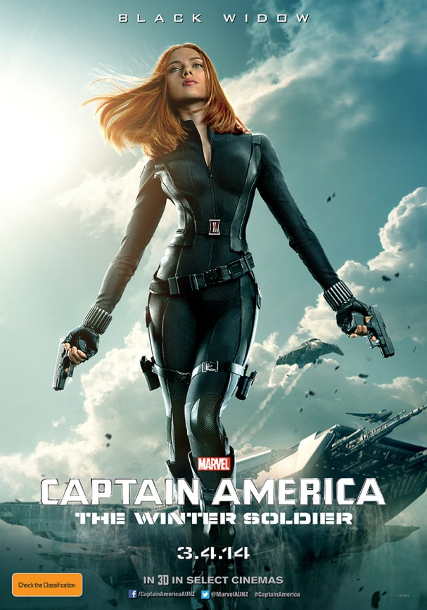 Black Widow - Captain America: The Winter Soldier poster (Australia)