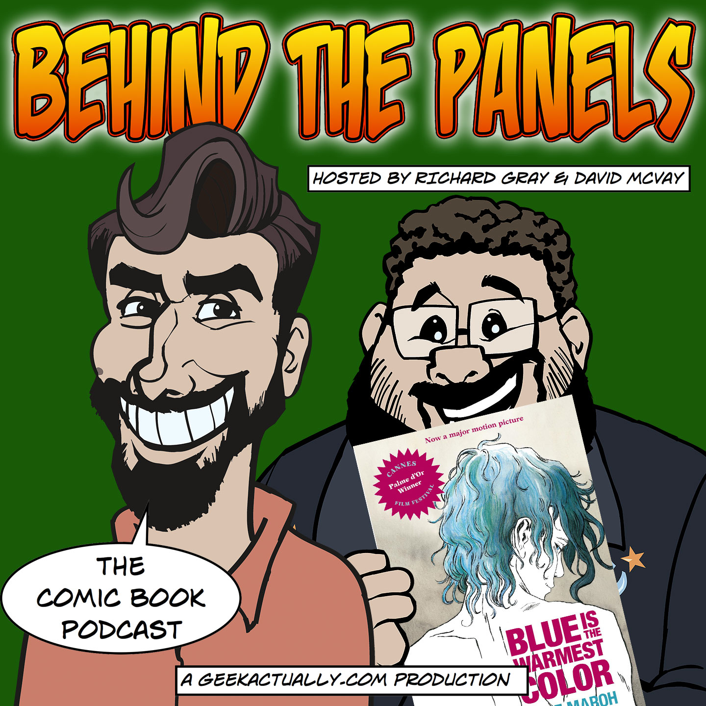 behind the panels ep87 cover art - Blue Is The Warmest Color Book