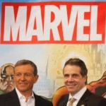 Disney CEO Bob Iger, Governor Andrew Cuomo & Marvel CCO Joe Quesada celebrate that Marvel's Netflix series will film in New York