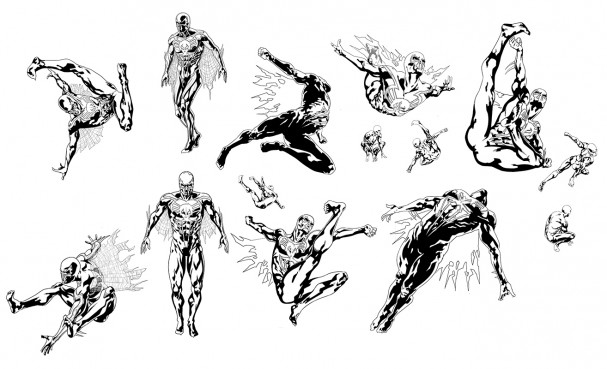 SPIDER-MAN 2099 #1 - Sliney concept art