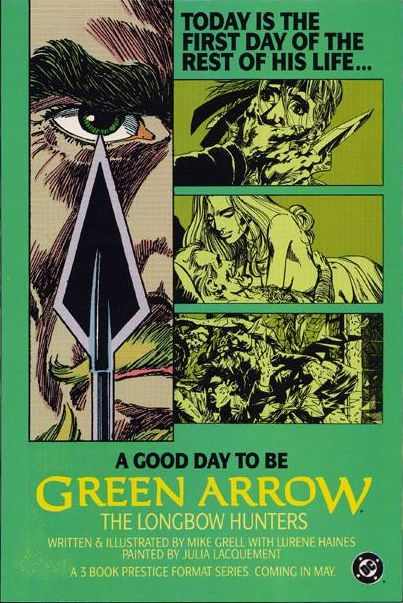 Green Arrow: The Longbow Hunters (1987) - House Ad