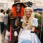 Supanova 2014 - Sydney cosplay - Mad Hatter and Alice (in Wonderland)