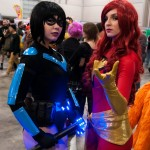 Supanova 2014 - Sydney cosplay - Nightwing and Jean Grey/Phoenix