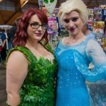 Supanova 2014 - Sydney cosplay - Poison Ivy and Elsa (Frozen)