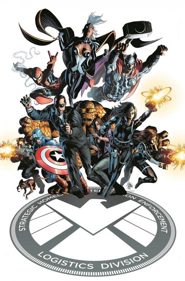SHIELD #1 cover - Mike Deodato cover