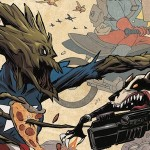 Bucky Barnes The Winter Soldier #2 ((Rocket Raccoon and Groot Variant) - Sandford Greene