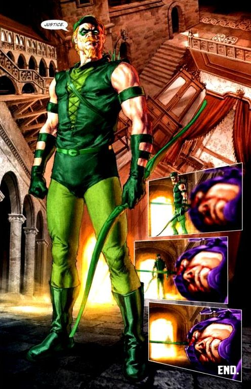 Green Arrow's form of justice in Justice League: Cry for Justice #1