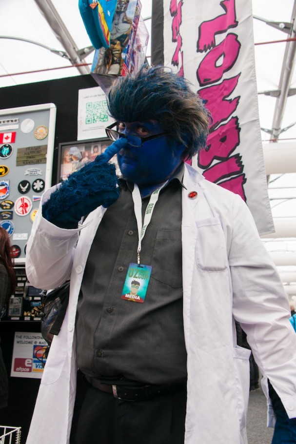 Oz Comic-Con 2014 (Sydney) cosplay - John Dee is X-Men's Beast
