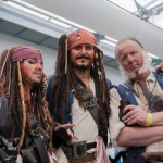 Oz Comic-Con 2014 (Sydney) cosplay - Pirates of the Caribbean (Jack Sparrow and Joshamee Gibbs)
