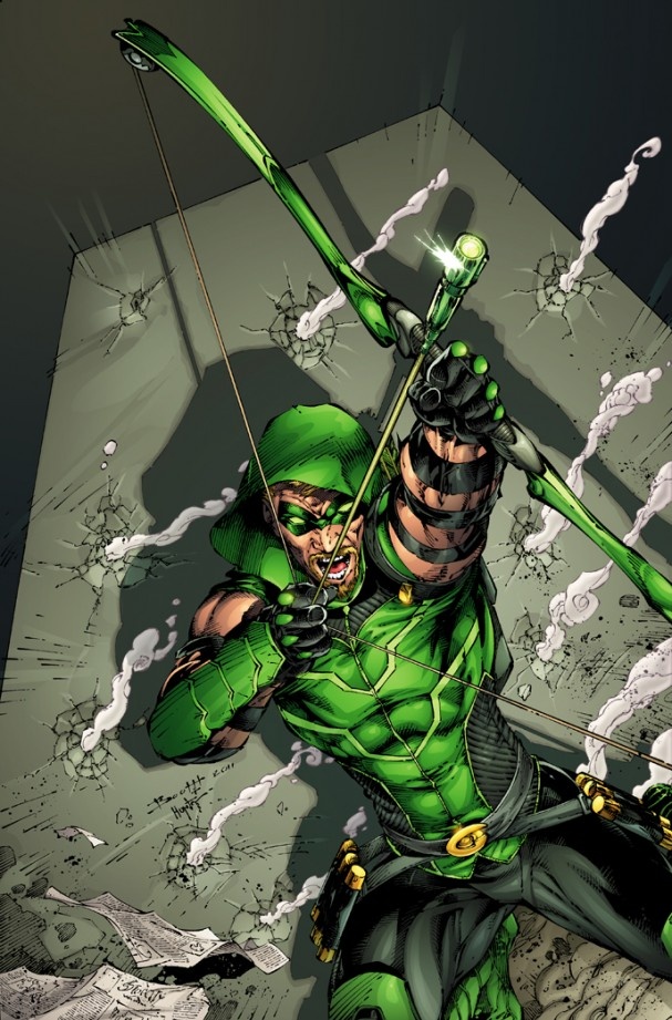 Green Arrow #1 (2011) - Original solicitation with beard