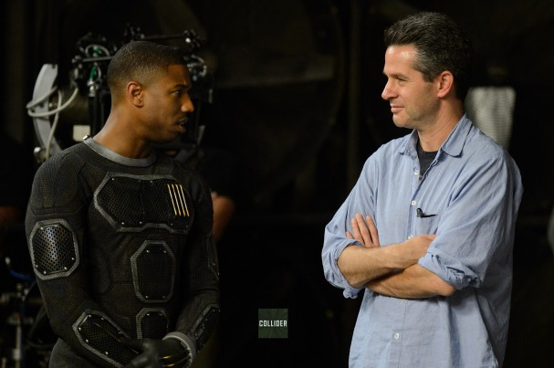 Fantastic Four (2015) costume - Michael B. Jordan and Simon Kinberg