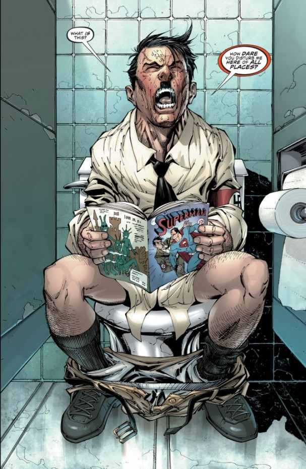 The Multiversity: Mastermen #1 (DC Comics) - Hitler on the toilet