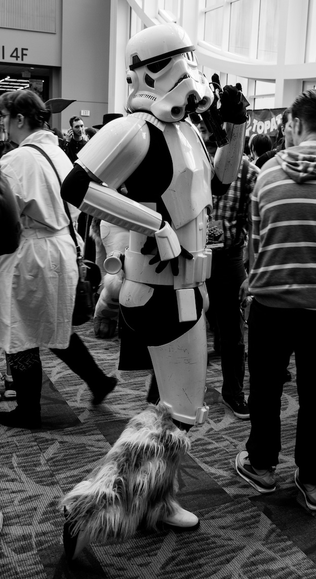 Emerald City Comic-Con (2015) cosplay - Storm Trooper with Flair. Photo by Richard Gray for Behind The Panels