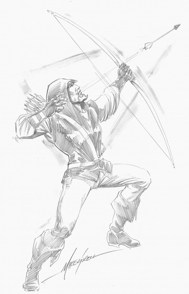 Green Arrow - Longbow Hunters Sketch (Emerald City ComicCon 2015)