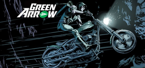 Green Arrow #42 - Green Arrow on a motorbike by Patrick Zircher